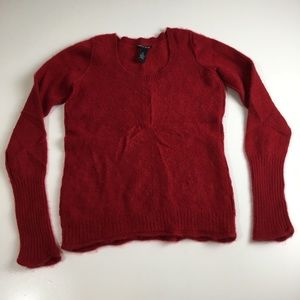 Lucky Brand Red Cashmere Sweater Size Medium